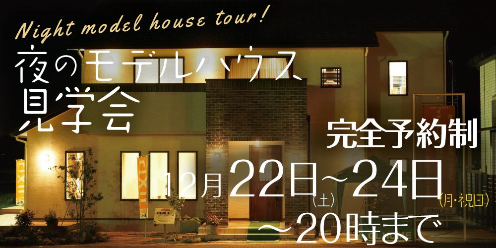 【12/22(土)-24(月・祝)】夜のモデルハウス見学会